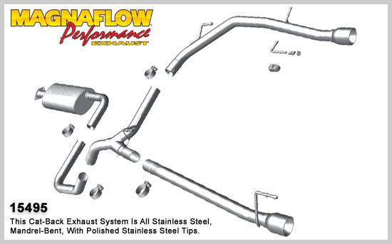2010 2015 Chevrolet Cruze Magnaflow Stainless Cat Back System