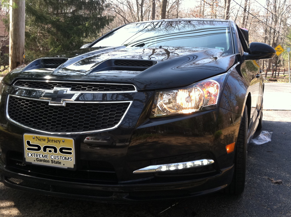 2010 2015 Chevy Cruze LED Long Chrome Fog Daytime Running Lights  Replacements