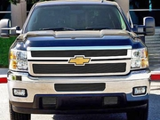 2011-2014 Chevrolet Silverado HD Black Billet Grille Overlay 2 Pc