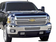 2011 2012 Chevrolet Silverado HD Polished Billet Grille Overlay 2 Pc