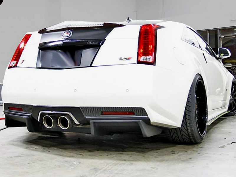 2011 2013 cadillac cts v coupe rear diffuser 1101136. Black Bedroom Furniture Sets. Home Design Ideas