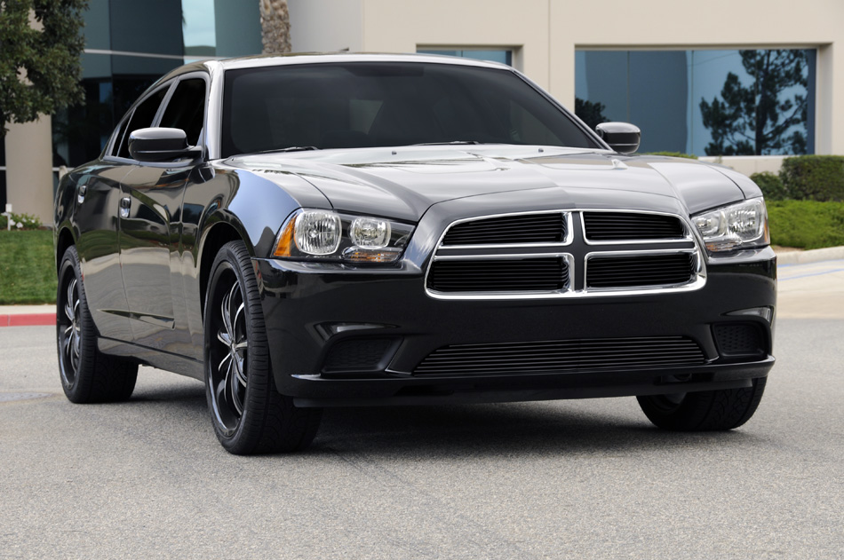 2011 2014 dodge charger all black billet grille overlay bolt on. Black Bedroom Furniture Sets. Home Design Ideas