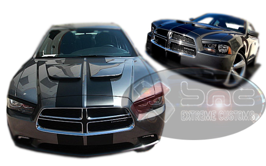 2011 2014 dodge charger gts dual hood by xenon. Black Bedroom Furniture Sets. Home Design Ideas