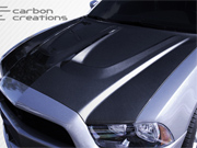 2011-2014 Dodge Charger Carbon Fiber Hot Wheels Hood