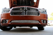 2011-2014 Dodge Charger Polished Stainless Front Lower Grille Overlay