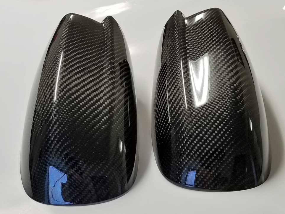 2011-2018 Dodge Charger Side Mirror Carbon Fiber Covers