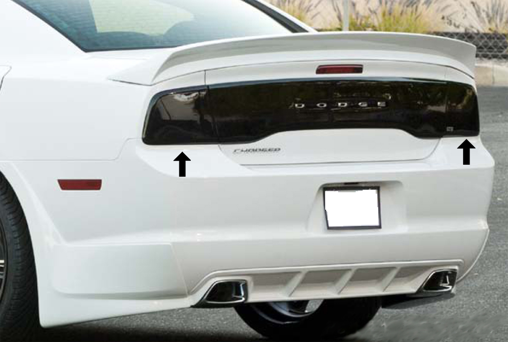 2011 2014 Dodge Charger Taillight Covers Gt4177