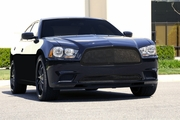 2011-2014 Dodge Charger Upper Class All Black Stainless Mesh Grille