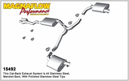 2011 2014 Dodge Charger V6 3 6l Magnaflow Stainless Cat Back Exhaust