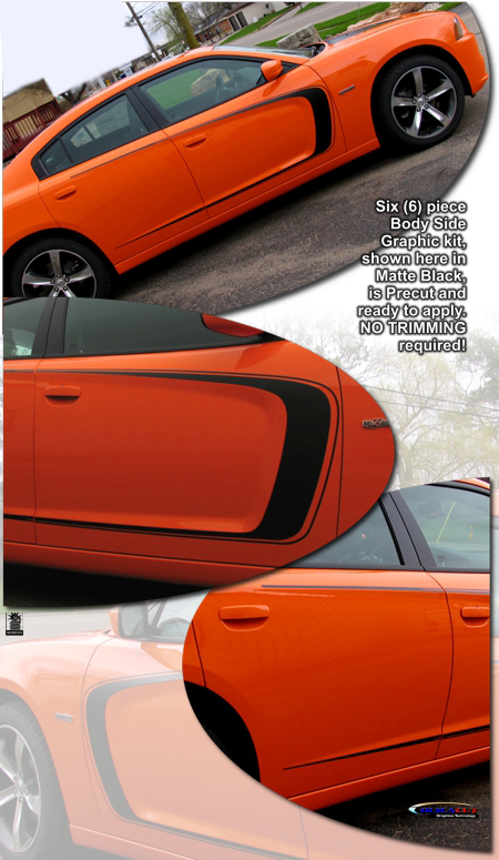 2011-2014 Dodge Charger Super Bee Style Body Side Graphic