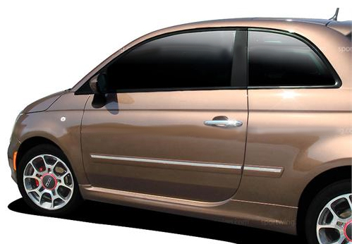 KWH Dawn Enterprises CF2-FIAT12 Chromeline Body Side Molding Compatible with Fiat 500 Arctic Pearl