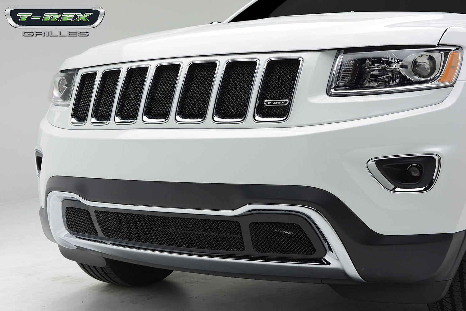 2014 jeep grand cherokee sport series formed mesh grille all black. Black Bedroom Furniture Sets. Home Design Ideas