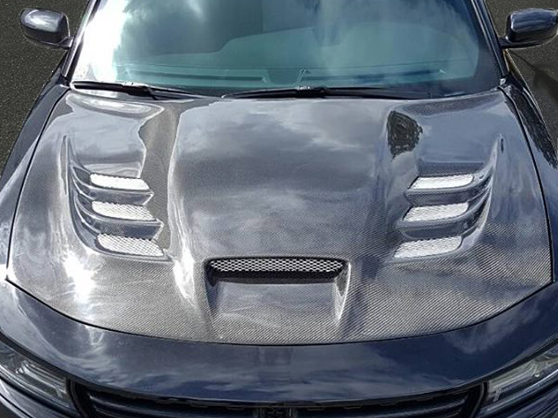 2015 2019 Charger Viper Styled Heat Extractor Hood