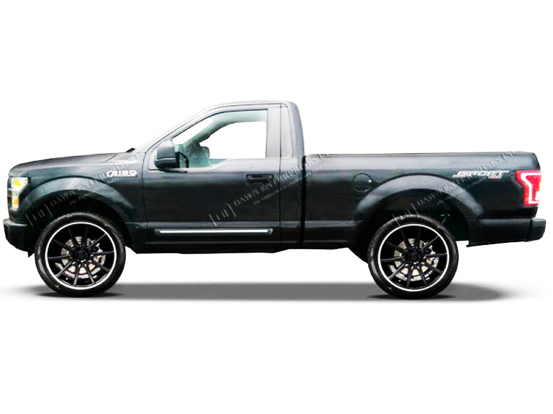 Kodiak Brown F150 >> 2015 - 2016 Ford F-150 Regular Cab ChromeLine Painted Body Side Moldings