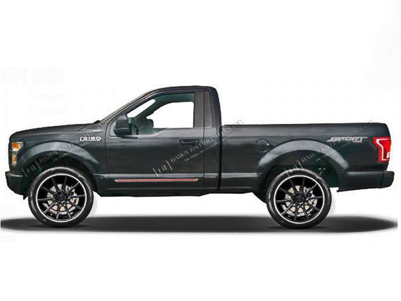 ford f-150 regular cab painted moldings with a color insert 2015