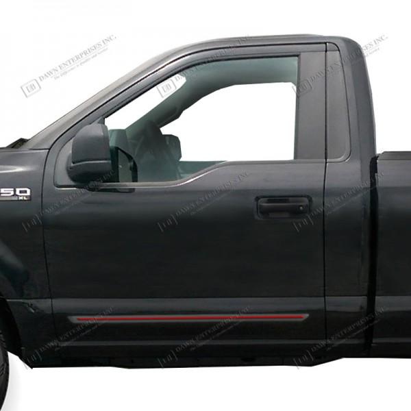 Ford F-150 Regular Cab Painted Moldings With A Color