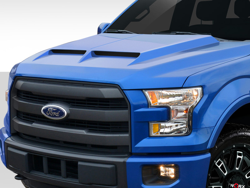 2015-2019 Ford F150 GT500 Styled Hood - 1 Piece