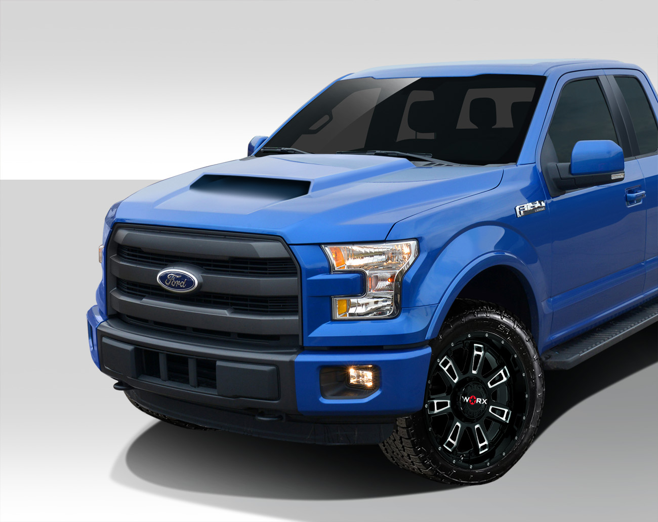 2015 2019 Ford F150 Heat Extractor Grid Hood