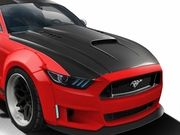 2015-2017 Ford Mustang Carbon Creations CVX Hood - 1 Piece