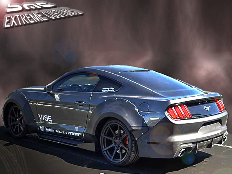 2015 2017 ford mustang duraflex grid wide body flares kit. Black Bedroom Furniture Sets. Home Design Ideas