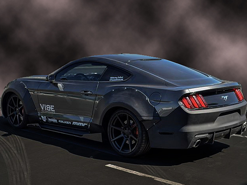 2015 2017 ford mustang grid wide body flares kit. Black Bedroom Furniture Sets. Home Design Ideas