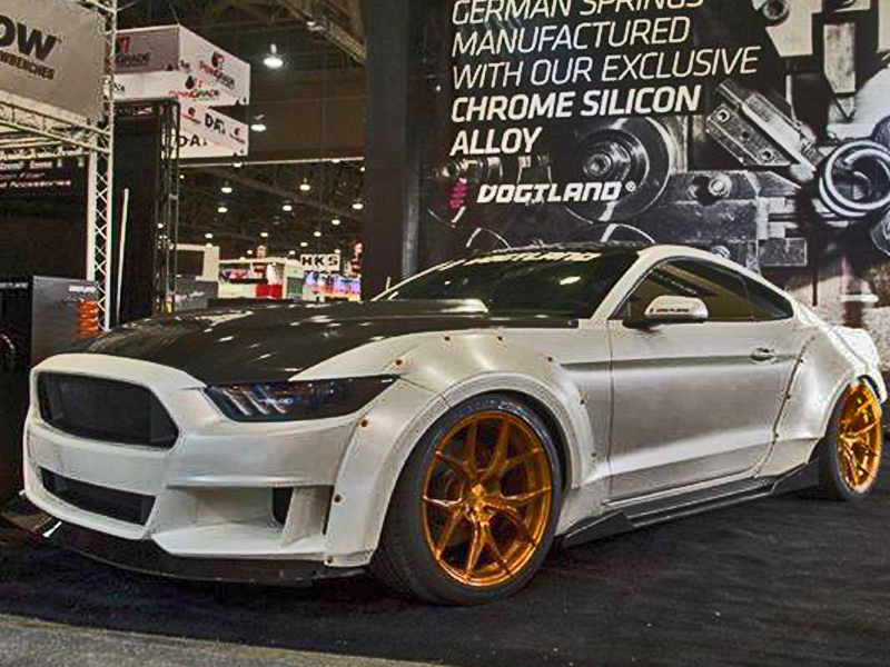 2015 2017 Ford Mustang Grid Wide Body Flares Kit Duraflex 17 Piece