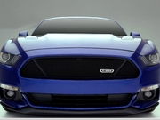 2015-2017 Ford Mustang GT Upper Class Formed Mesh Grille Overlay Flat Black Powder Coated finish
