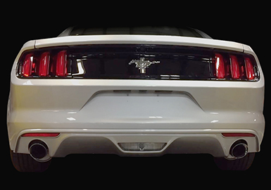 2015-2016 Mustang 3.7L ROUSH V6 and 2.3L Ecoboost Exhaust Kit  Round Tip (304SS)