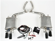 2015-2016 Mustang 5.0L V8 ROUSH Quad Tip Active Exhaust Kit (COUPE ONLY)