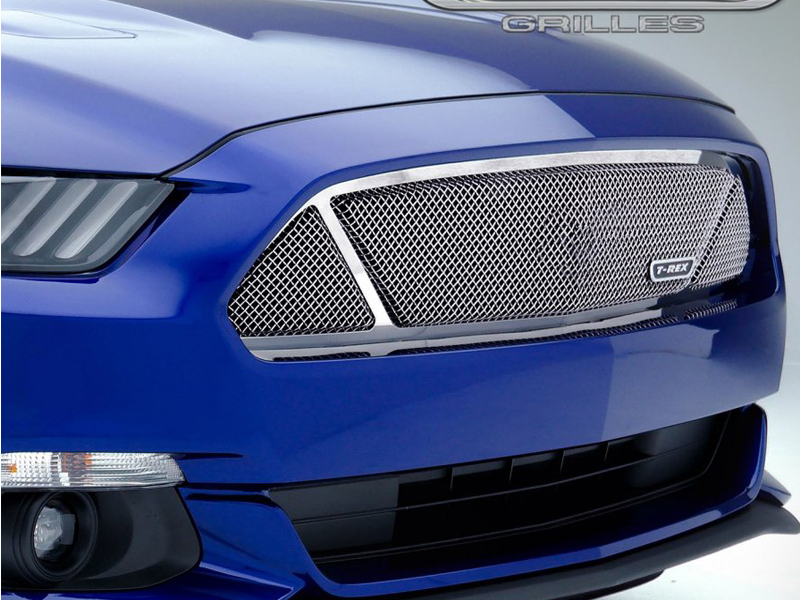 2015 2017 Mustang Gt Formed Mesh Grille Polished Stainless