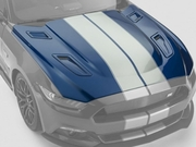 Shelby SGT043PC Mustang Polycarbonate Hood w/ Vents 2015-2017