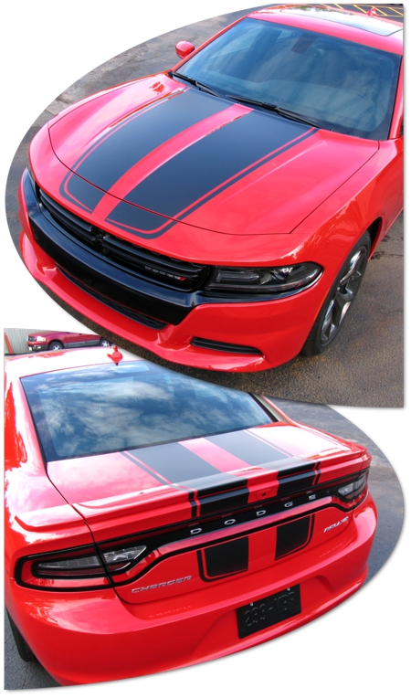 2015 2017 dodge charger rally stripes graphic kit atd. Black Bedroom Furniture Sets. Home Design Ideas