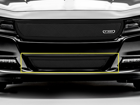 2015-2017 Dodge Charger Upper Class Bumper Grille Black 52480 by Trex