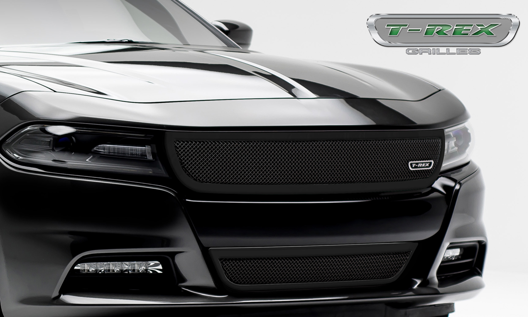 2015 2017 Dodge Charger Upper Class Bumper Grille Black