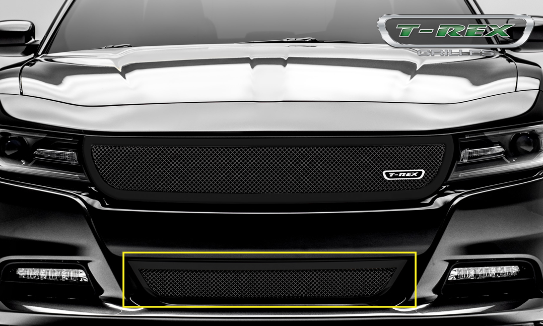 Dodge Charger Accessories >> 2015-2017 Dodge Charger Upper Class Bumper Grille Black ...