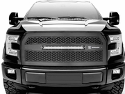 2015-2017 F150 T-REX ZROADZ Series LED Lighted Grille Black Powder Coated Mild Steel