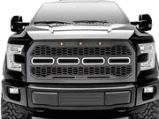 2015-2017 Ford F-150 with Forward Camera, Revolver Series LED Grille - Laser Cut Mesh, Replacement Grille