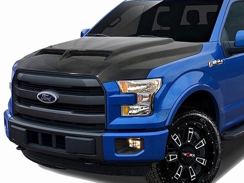 2015-2019 Ford F150 Hood Carbon Fiber Carbon Creation
