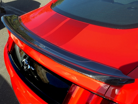 2015-2020 Mustang Carbon Fiber BMC Extreme Customs Rear Trackpack Styled Spoiler