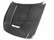 2015-2017 Mustang Shelby GT350 Double Sided Carbon Fiber Hood AC-HD15FDMU350-OE-DS