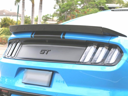 2015-2019 Mustang Carbon Fiber Track Pack Style Spoiler AC-RS15FDMU-ST Adjustable Wickerbill