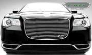 2015 Chrysler 300 - Billet Series - Main Grille Replacement  Black Powder Coat Aluminum Bars and Polished Face 6214360