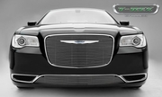 2015 Chrysler 300 Main Grille Overlay with Black Powder Coat Aluminum Bars and Polished Face 21436