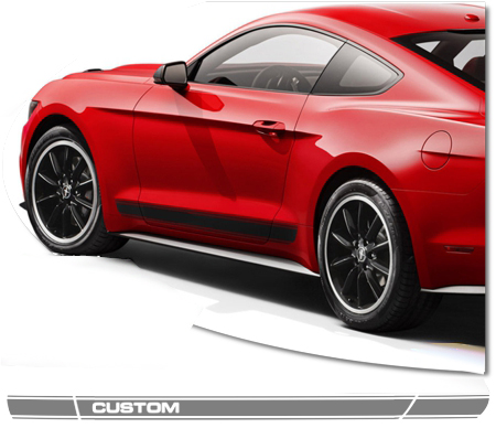 2015-2019 Ford Mustang Body Side Graphics Kit 22