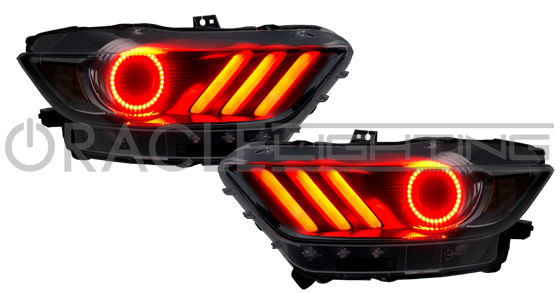 2015 ford mustang v6 gt shelby oracle colorshift drl led halo kit