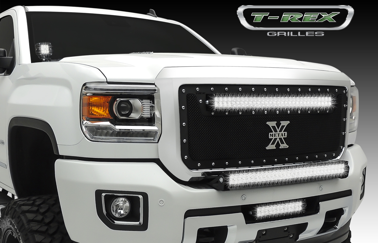 "2015 GMC SIERRA 2500 HD / 3500 HD- TORCH Series LED Bumper Insert Light Kit  1 - 12"" LED Bar,1 Pc, Black Powdercoated Mild Steel"