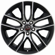 2015 Mustang� Wheel - Matte Black with a Machined Face 18x9