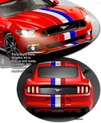 2015-2019 Pony Style Rally Stripe Graphic Kit 1 for Ford Mustang