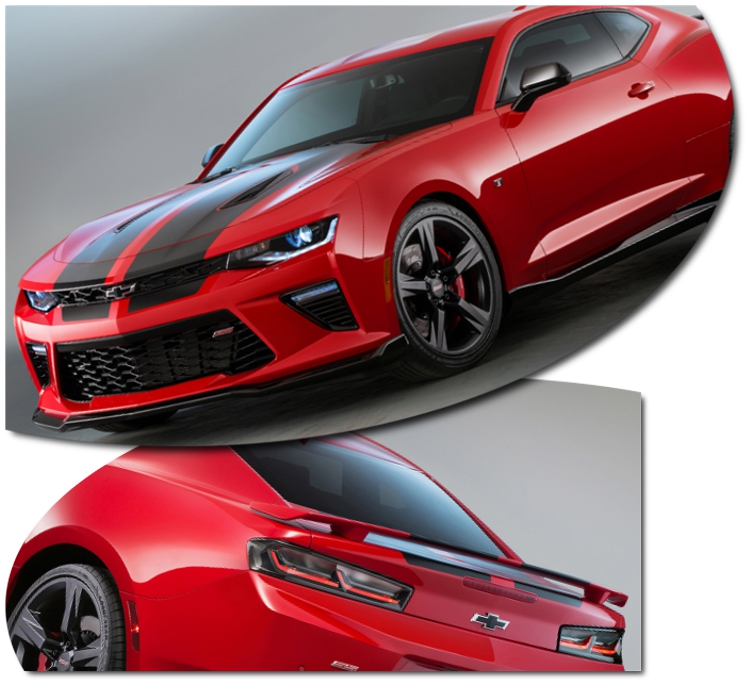 2016 2017 Camaro Rally Stripes Graphics Kit Factory Style