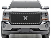 2016-2018 SILVERADO 1500 X-METAL SERIES MAIN GRILLE REPLACEMENT W/ SMALL MESH POWDER COATED BLACK STEEL 6711271